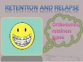 Retention and Relapse ..  AAA