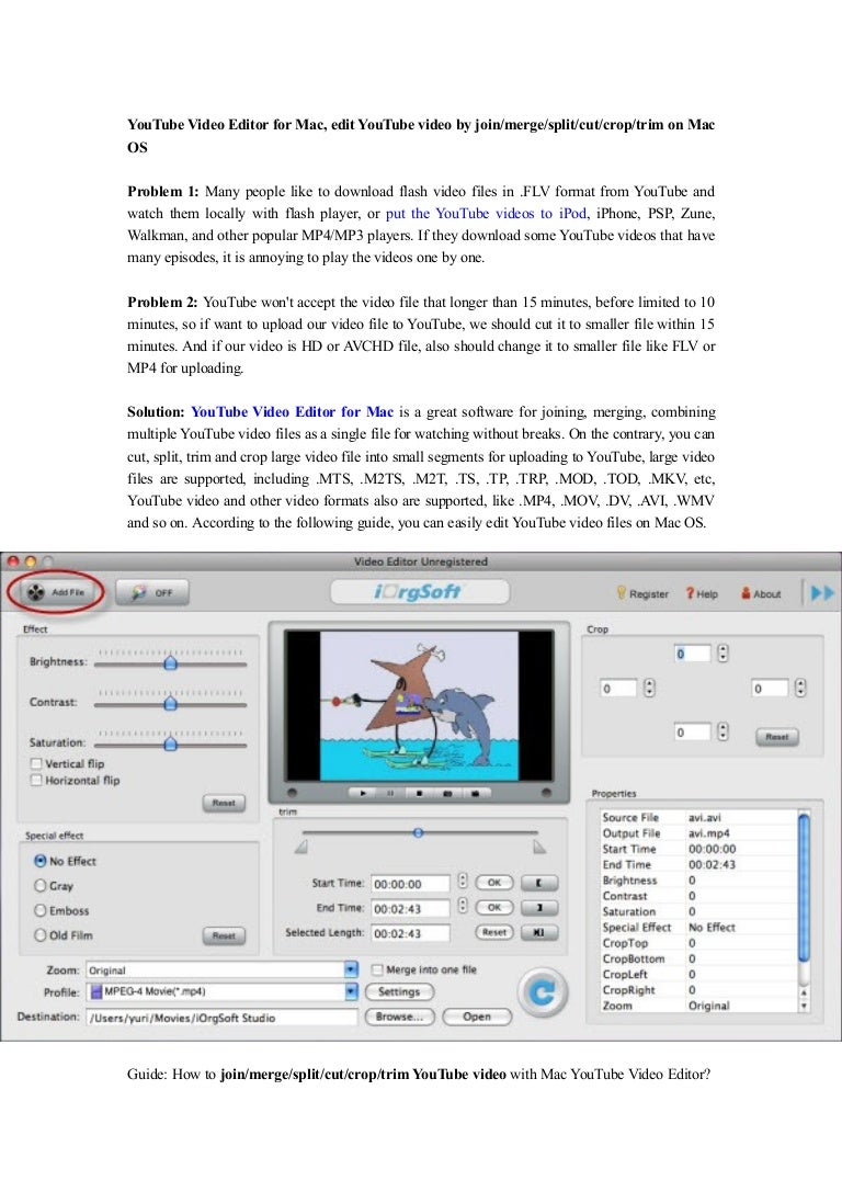 Youtube video editor for mac edit youtube video by joinmergesplit ccuart Image collections