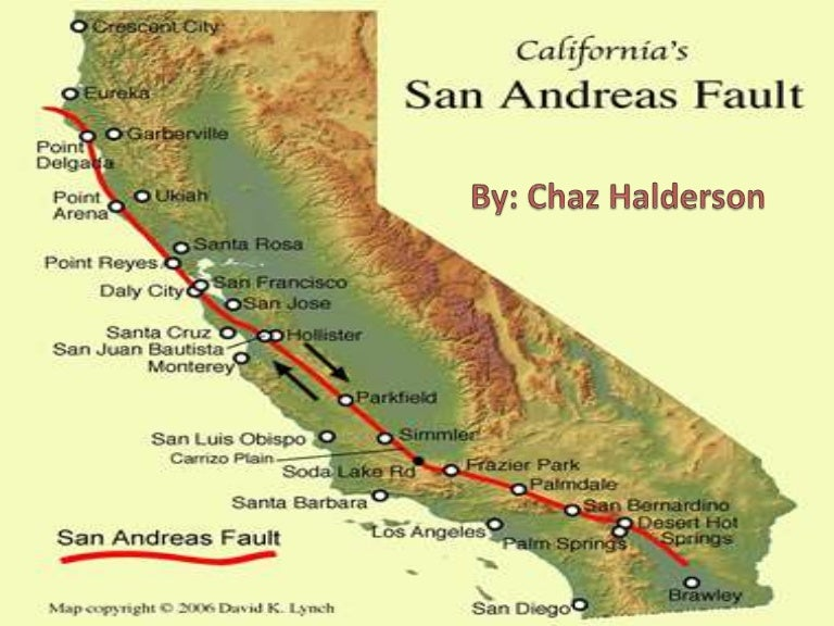 San Andres Fault Line - Map of san andreas fault line