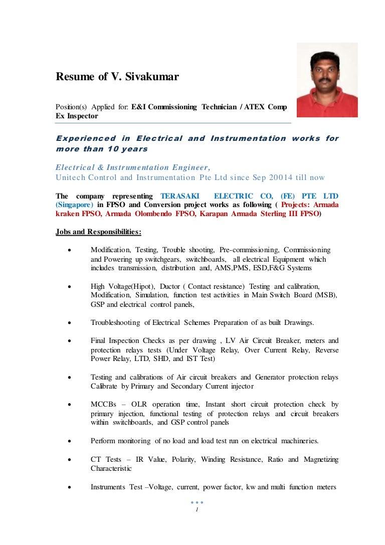 Resume Of V Sivakumar 29mar20162 Power Relay How It Works