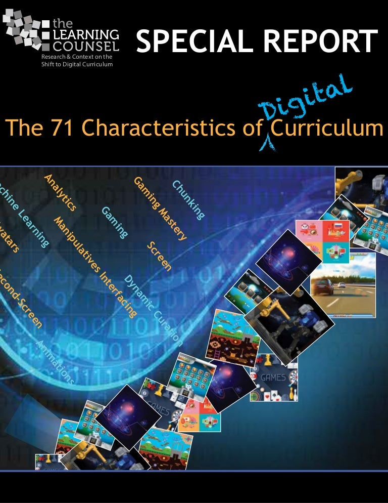 Special report on 71 characteristics of digital curriculum fandeluxe Choice Image