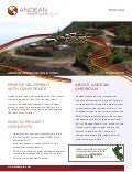 Andean American Gold (TSX.V - AAG) Fact Sheet - March 2011
