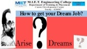 Aa how to get your dream job   job portal #arise roby m.i.e.t. placement 111