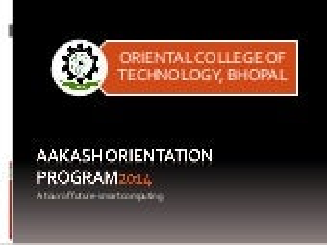 Aakash orientation Program for Technocrats