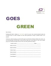 AAM - Go Green Parents Form