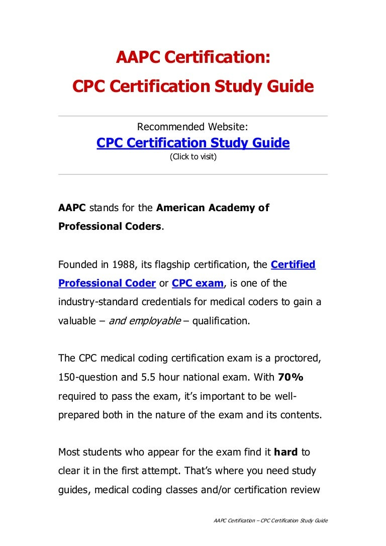 Aapc certification cpc certification study guide xflitez Image collections