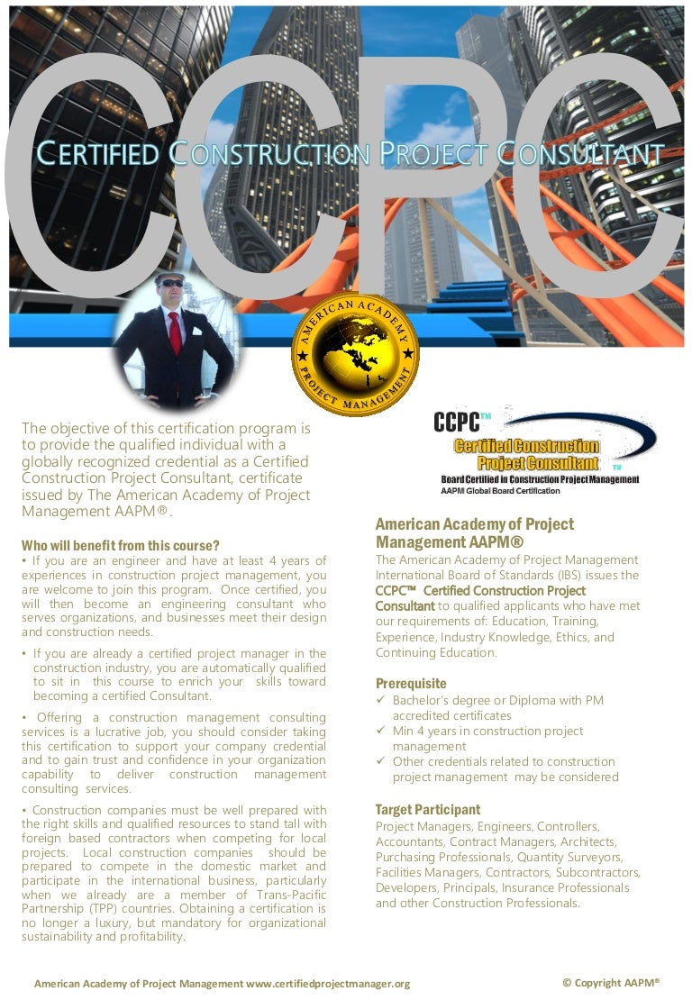 Ccpc certified construction project consultant by syseneg academy sys xflitez Images
