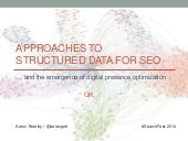 Approaches to Structured Data for SEO