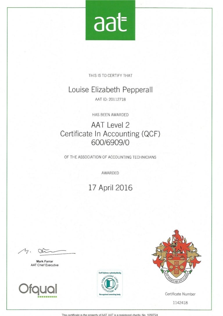 Aat level 2 certificate in accounting xflitez Images