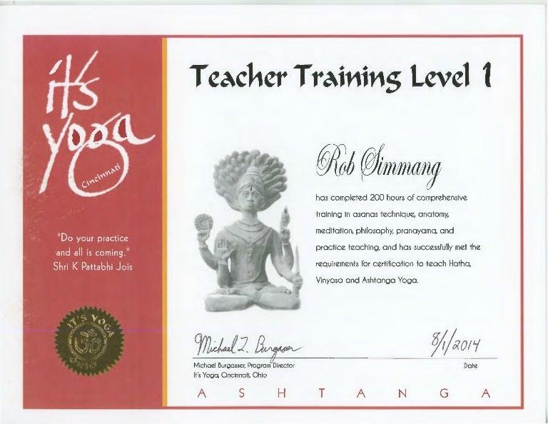 yoga certification slideshare upcoming