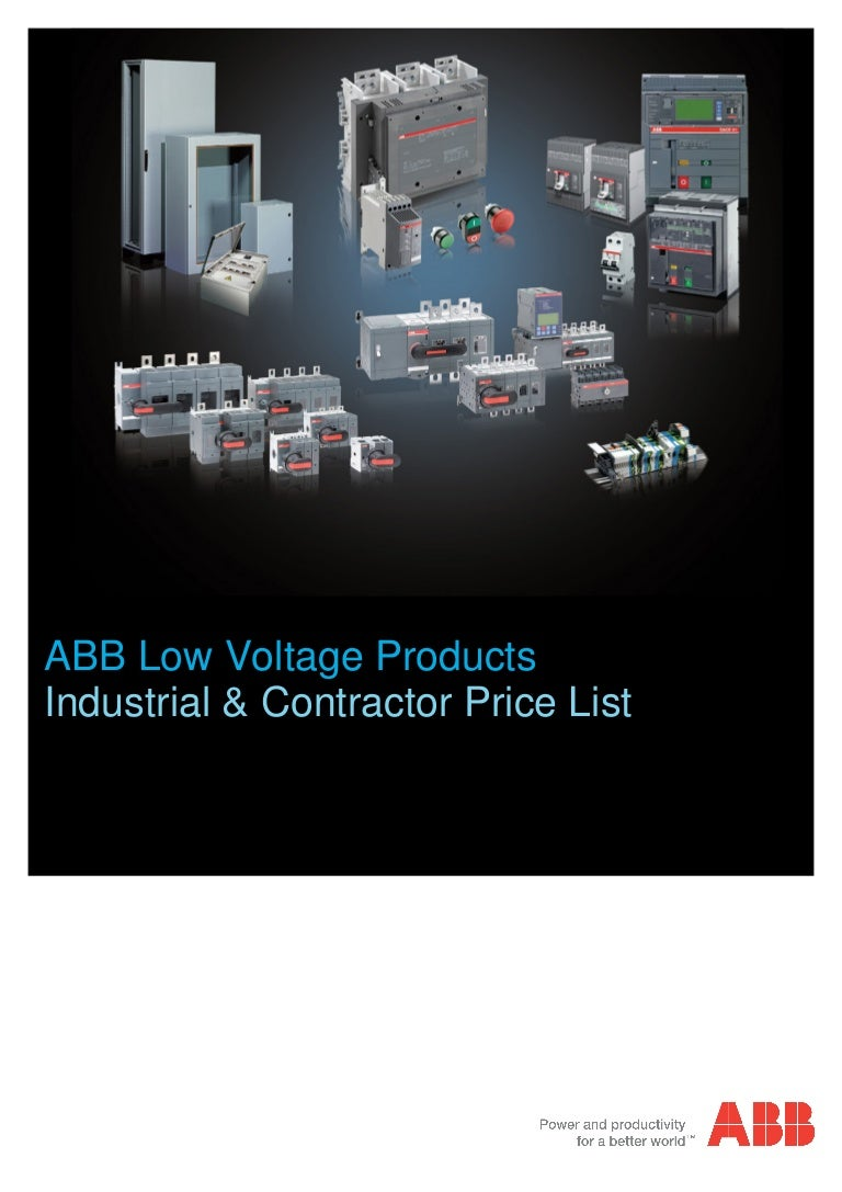 abblowvoltageproducts pricelistjuly2013 130724102644 phpapp02 thumbnail 4?cb=1374661977 abb low voltage products 2013 price list abb a12-30-10 wiring diagram at bayanpartner.co