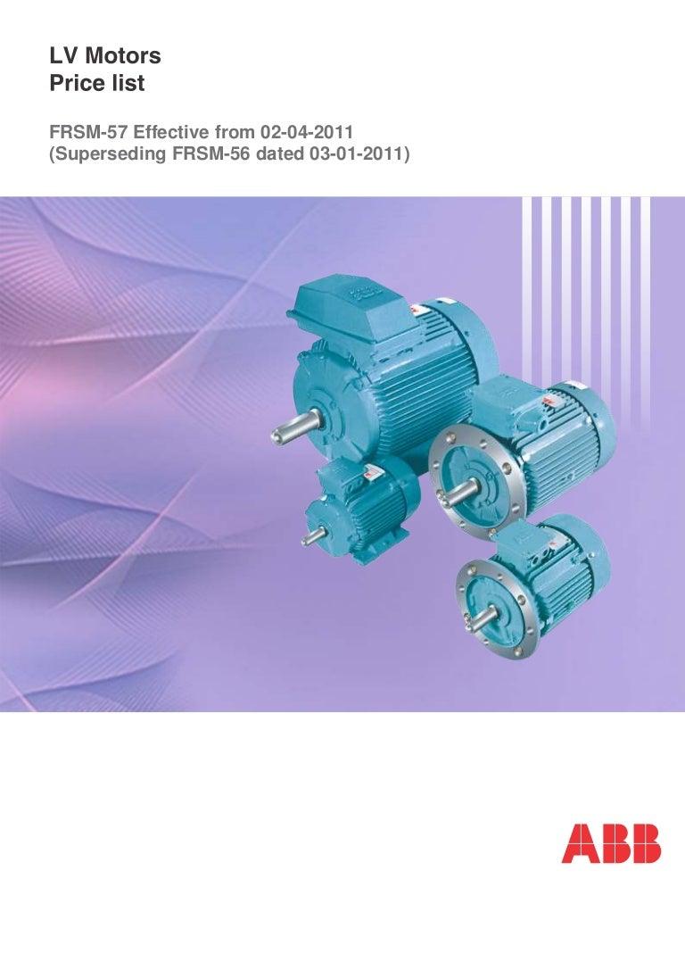 Abb Motors Price List Low Voltage Motor Wiring Diagram