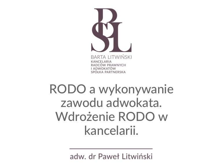 01c6c73a80901b RODO a wykonywanie zawodu adwokata. Wdrożenie RODO w kancelarii.