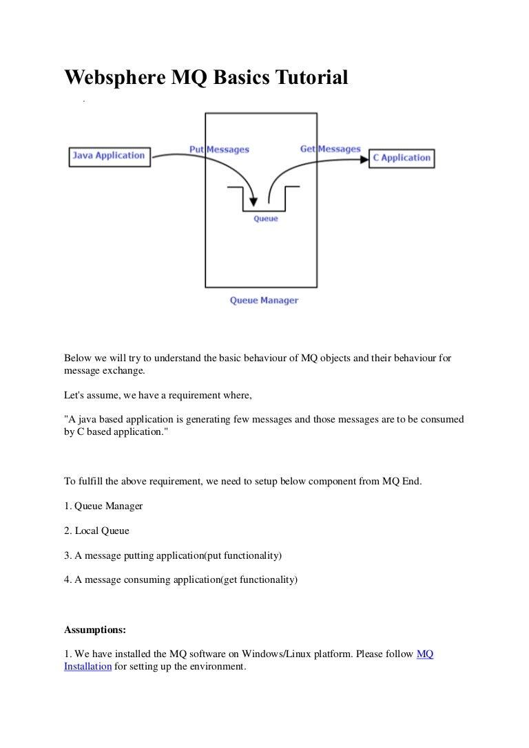 Websphere mq basics tutorial basic websphere mq setupwith screensho baditri Image collections