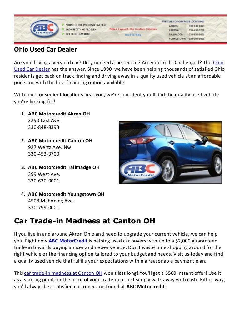 Used Car Dealer Specials Canton Ohio
