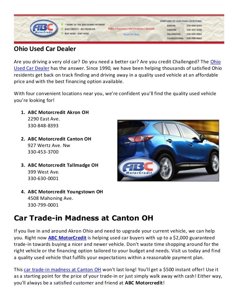 used car dealer specials canton ohio. Black Bedroom Furniture Sets. Home Design Ideas
