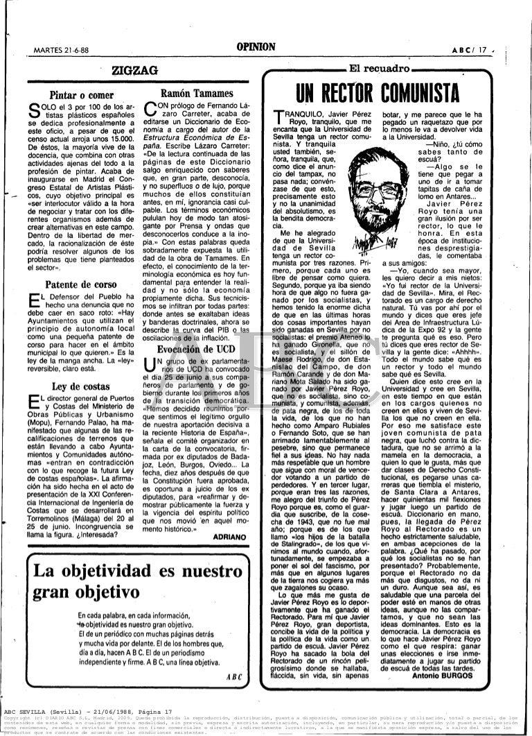 Un rector comunista. Javier Pérez Royo por Antonio Burgos