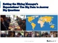 Set the Hiring Managers' Expectations: Using Big Data to answer Big Questions - Abdel Tefridj, Chief Innovation Officer for CareerBuilder