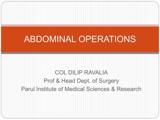 Abdominal surgeries
