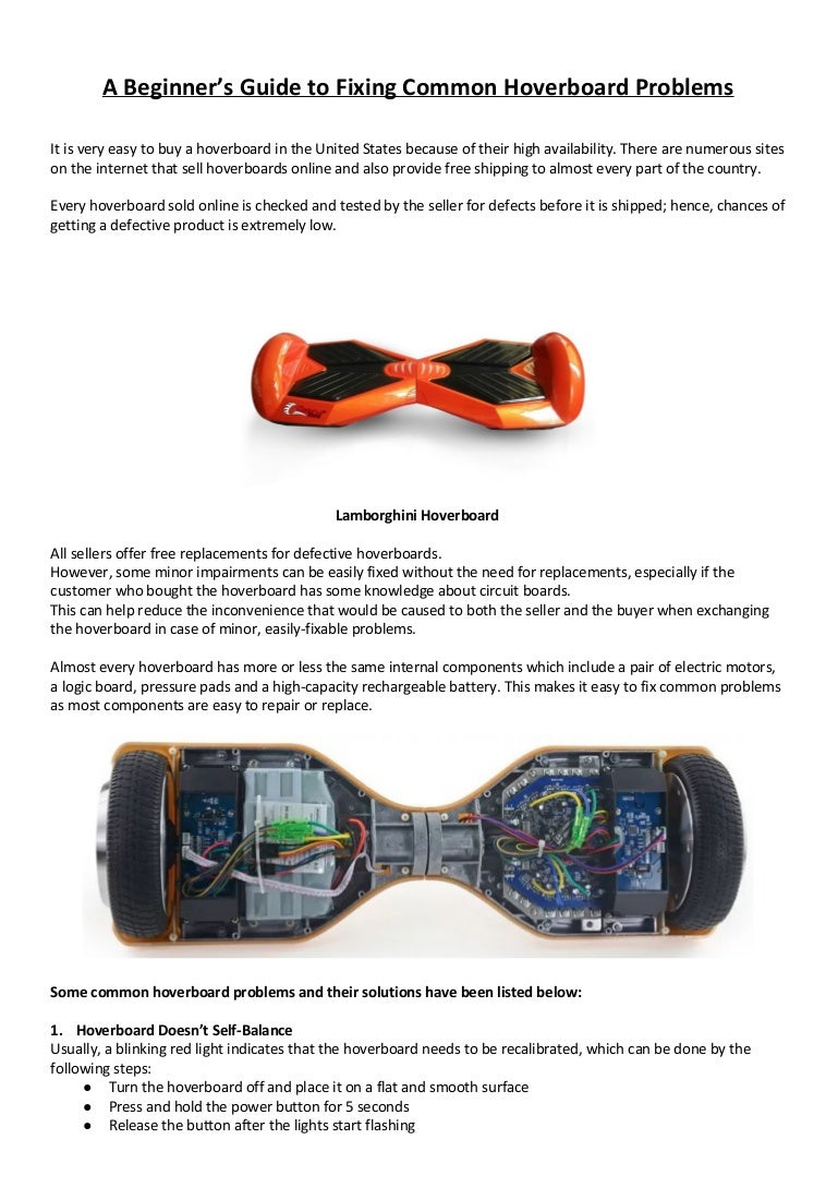 A Beginners Guide To Fixing Common Hoverboard Problems Fix Circuit Board