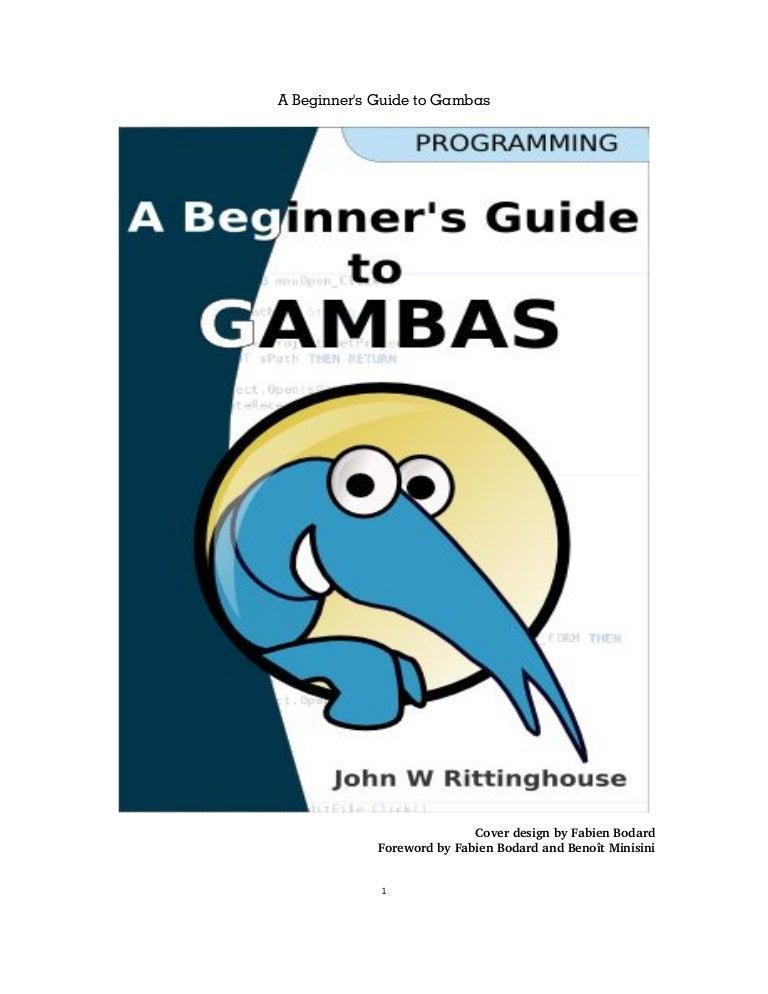 A Beginner Guide To Gambas Pdf Writer