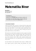 Belajar Matematika Biner (Abe Poetra)