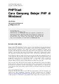 PHPTriad: Cara Gampang Belajar PHP di WINDOWS