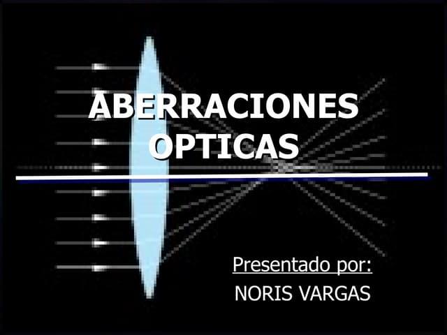 Aberraciones Opticas
