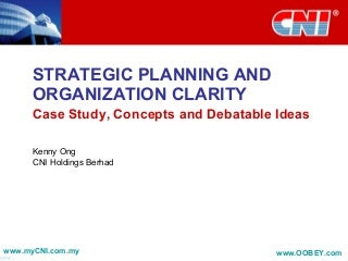 Strategic Planning And Organization Clarity