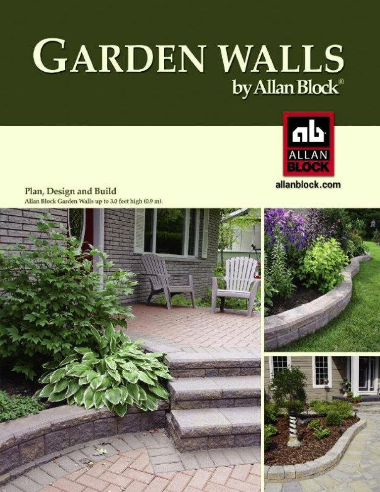 Stone Works Canada Alan Block garden walls install catalog