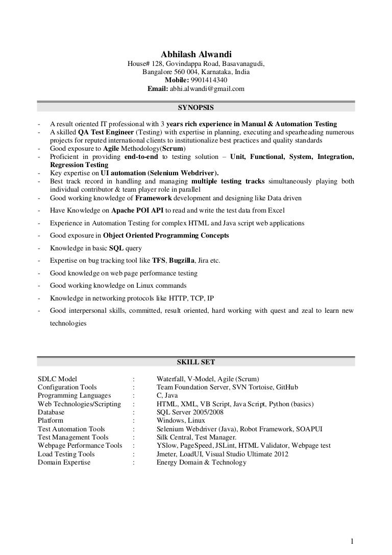 sample resume for manual testing automation test engineer sample resume automation testing resume vosvetenet - Linux Test Engineer Sample Resume
