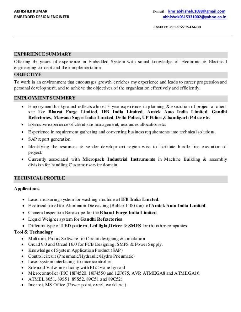 Abhishek Experience Resume