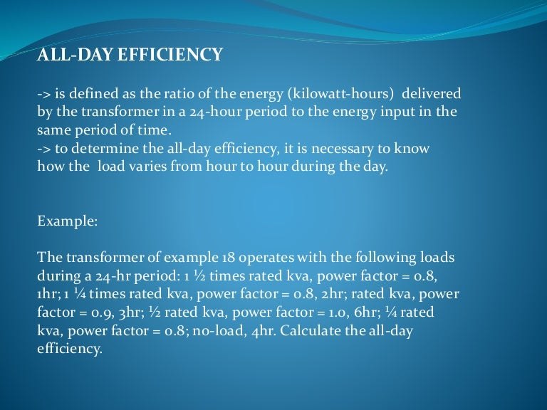 ALL DAY EFFICIENCY