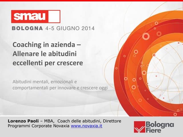 Abitudini eccellenti in azienda   SMAU Bologna 2014