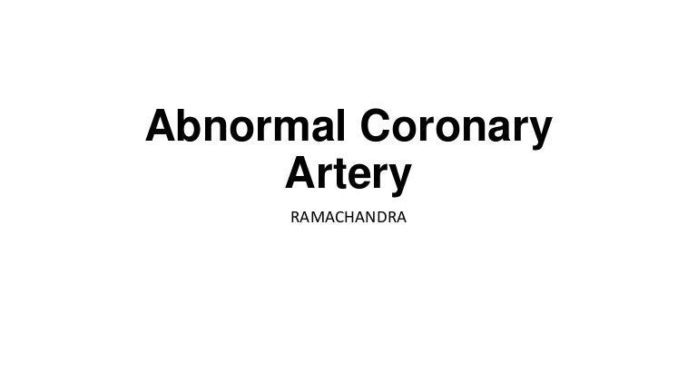 Abnormal coronary artery