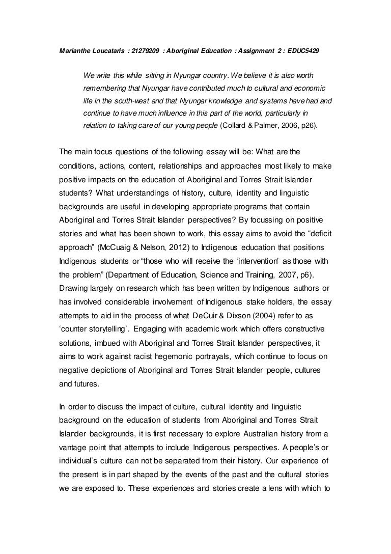 Aboriginal Education Essay
