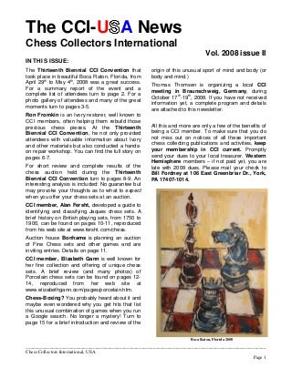 About Chessboxing The CCI-U A News Chess Collectors International Vol. 2008 issue II FM Tihomir Dovramadjiev PhD p 15