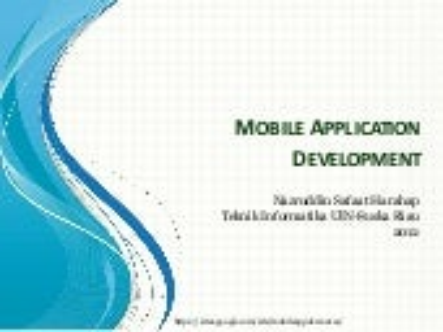 About me & about course mobile applicaton development
