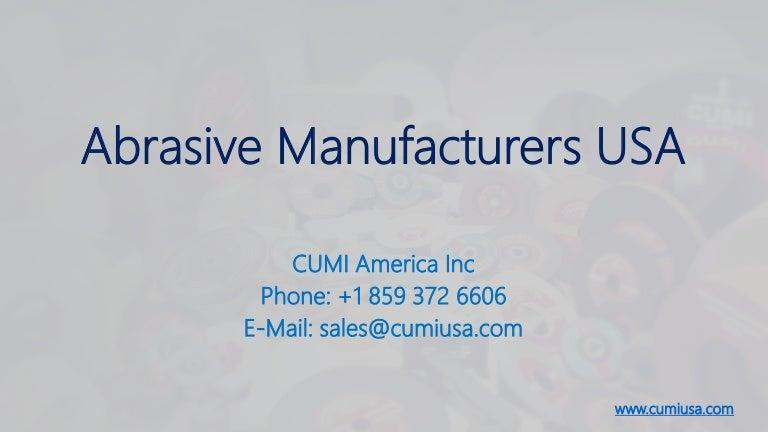 Abrasive Manufacturers Usa
