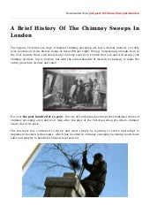 A brief history of the chimney sweeps in london