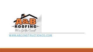 Bonner Roofing - A&B ROOFING CO Call 406-728-ROOF