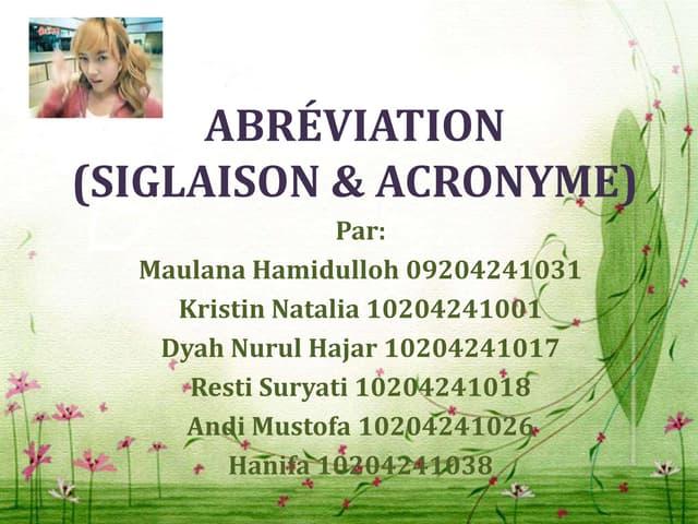 Abréviation