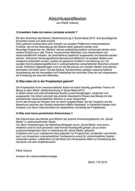 Individuelle reflexion schreiben beispiel 5 pk bachelor thesis im unternehmen