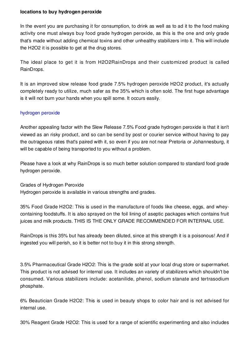 You May Buy Hydrogen Peroxide Food Grade In Pretoria Johannesburg I