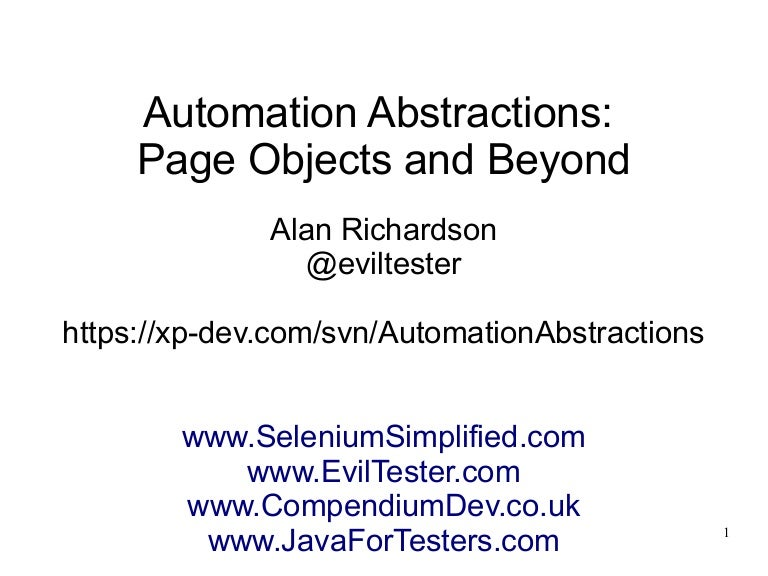 Automation Abstraction Layers Page Objects And Beyond We don't have this lyrics yet, you can help us by submitting it after submitted lyrics, your name will be printed as part of the credit when your lyric is approved. automation abstraction layers page