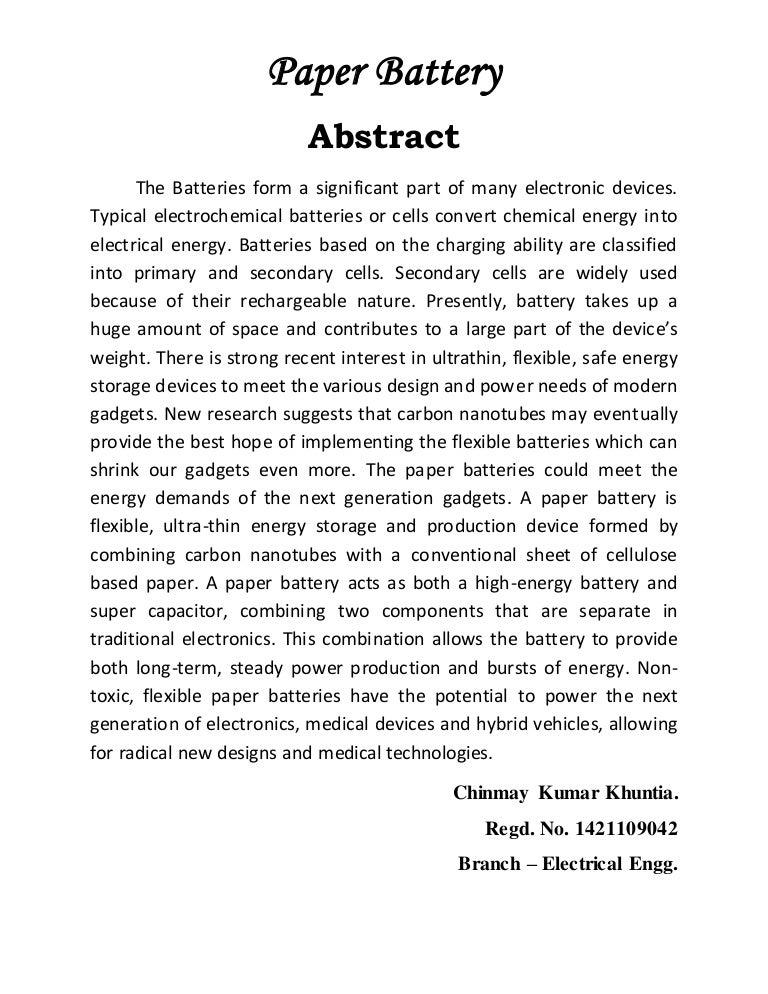 abstract for term paper