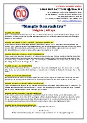 Simply Saurashtra 7N8D With Sasangir