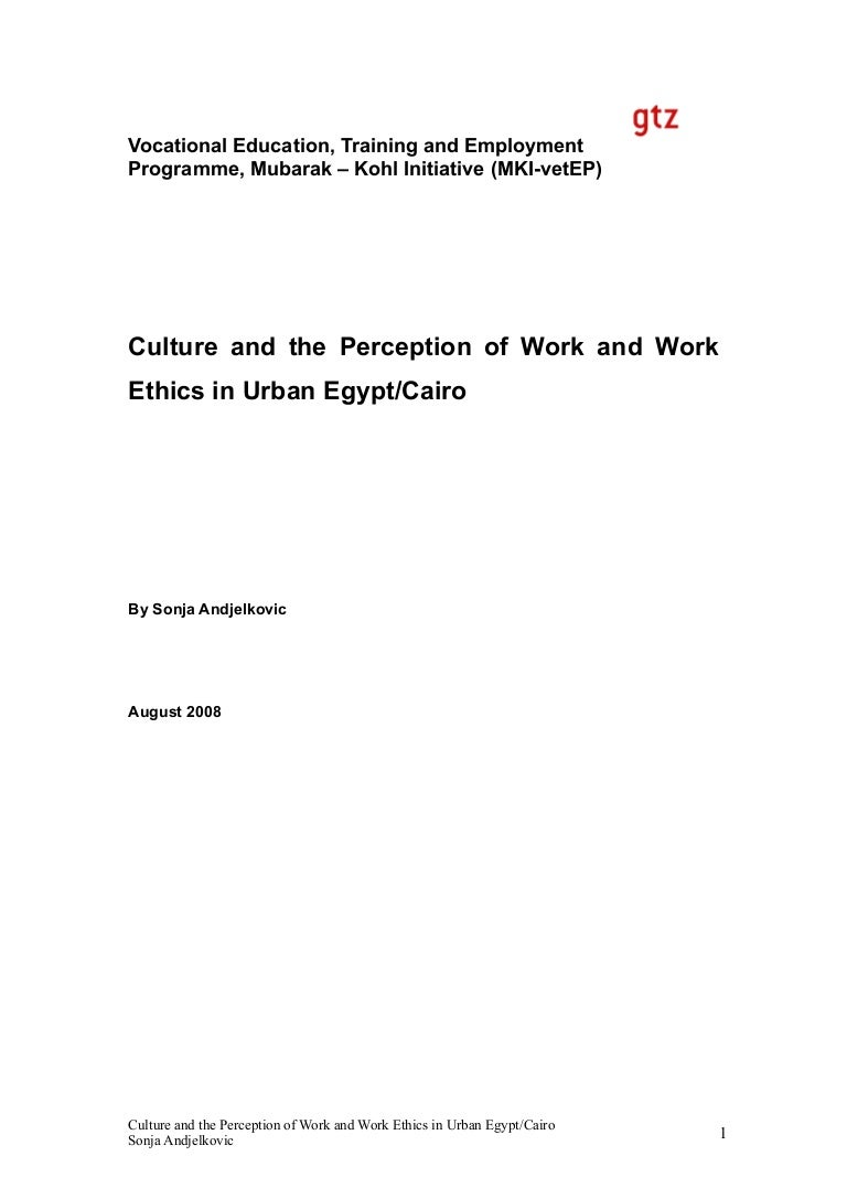 culture and work ethics in cairo egpyt