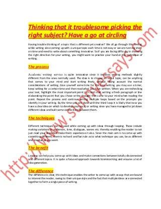 Academic essay service