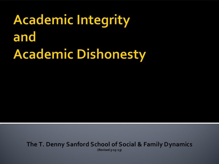 academic integrity the sanford school